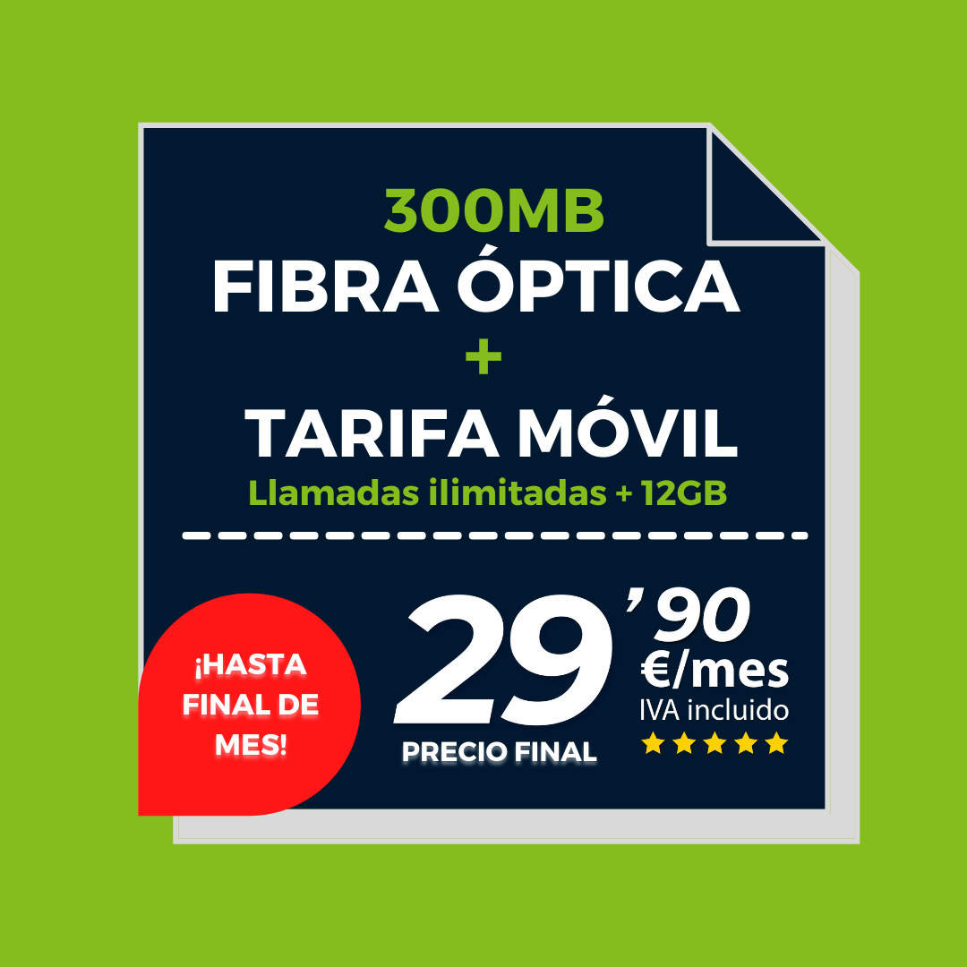 Copia de Copia de FIBRA 300MB + ILIMITADA 5GB